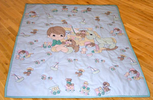 Holly's Quilts Baby Quilts and Crib Accessories : precious moments quilt - Adamdwight.com